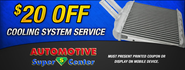 $20 Off Cooling System service