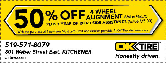 50% 4 Wheel Alignment