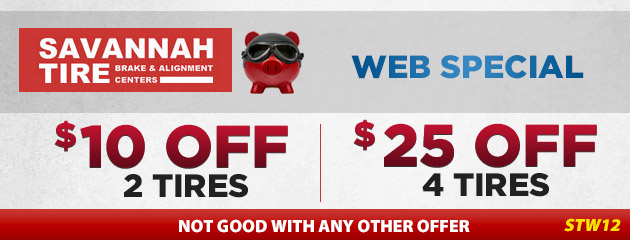 $10.00 Off 2 Tires | $20.00 Off 4 Tires - STW12