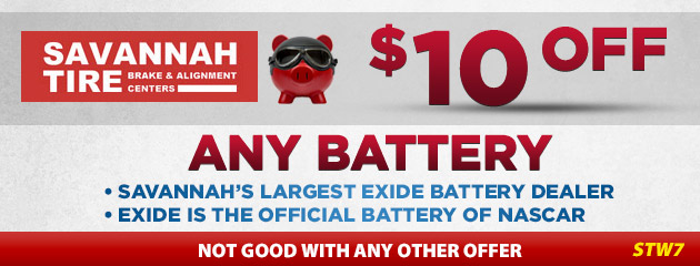 $10.00 Off Any Battery - STW7