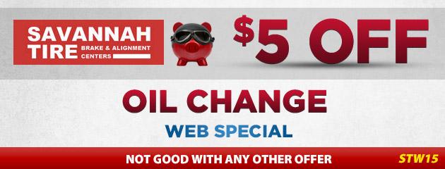 $5.00 Off Oil Change - STW15