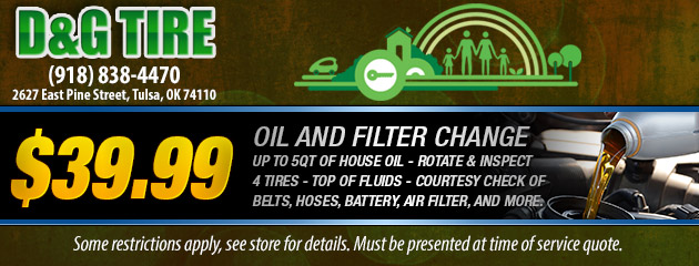 $39.99 Oil and Filter Change