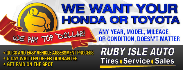 We Want your Toyota or Honda