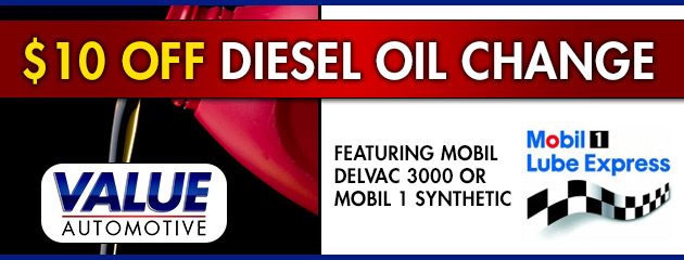 $10 Off Diesel Oil Change