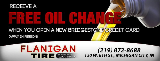 Free Oil Change with Bridgestone Credit Card