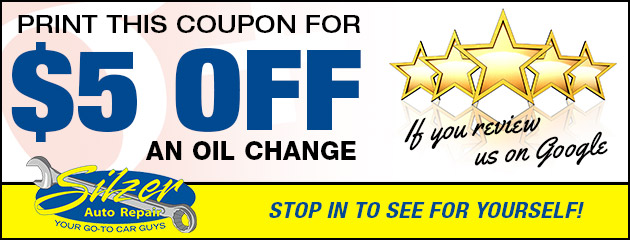 $5 Off Oil Change when you Review Us on Google