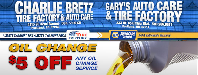 $5 Off Oil Change Service Special