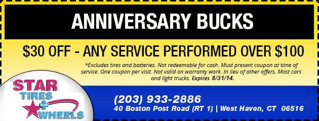 Anniversary Bucks - Service