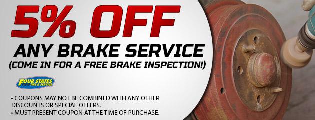 5% Off Any Brake Service