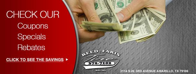 Reed-Faris Tire Savings