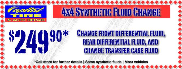 4x4 Synthetic Fluid Change