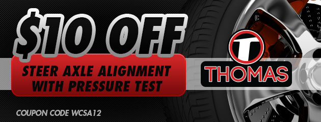 $10 OFF Axle Alignment