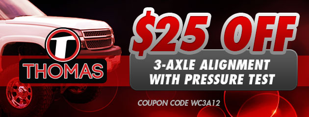 $25 OFF 3-Axle Alignment