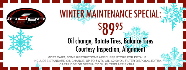 Winter Maintenance $89.95 Special
