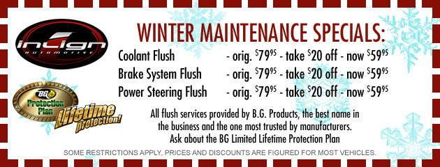 Winter Maintenance Specials