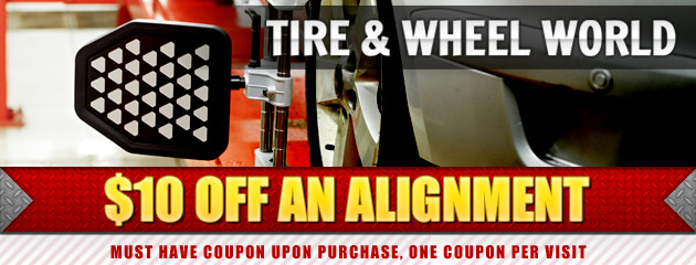 $10 off an aligment