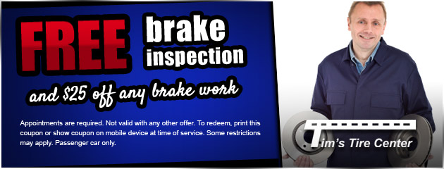 Free Brake Inspection and $25 Off