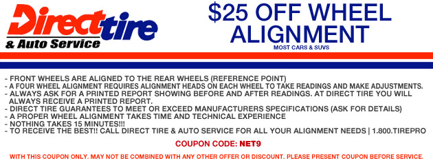 $25 Off Wheel Alignment
