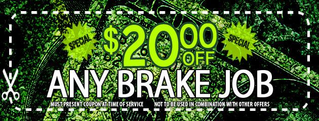 Franks Tire Auto $20 Off Brake Job
