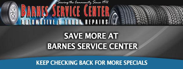 Barnes Service_Coupons Specials