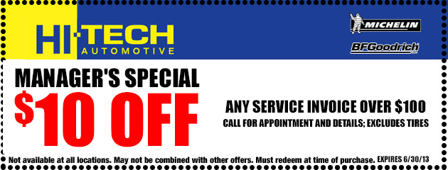 $10 Off Service Invoice over $100
