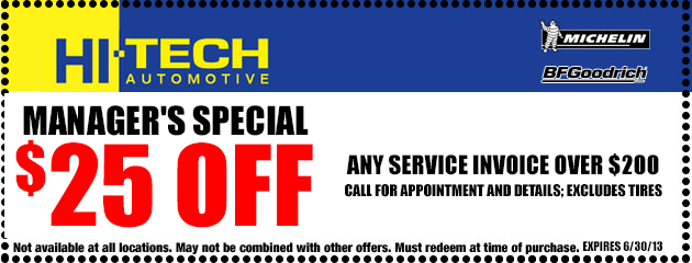 $25 Off Service Invoice over $200