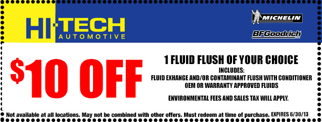 $10 Off 1 Fluid Flush of Your Choice