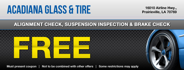 Acadiana Glass & Tire Coupon