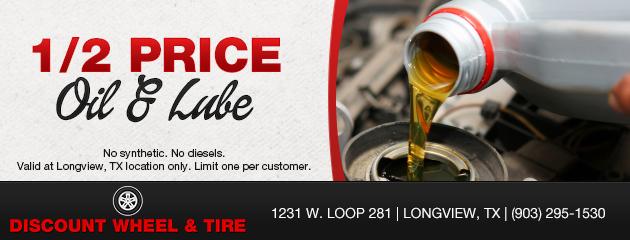 1/2 Price Oil & Lube