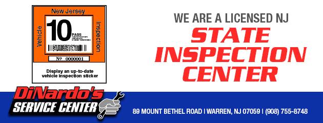 Licensed NJ State Inspection Center