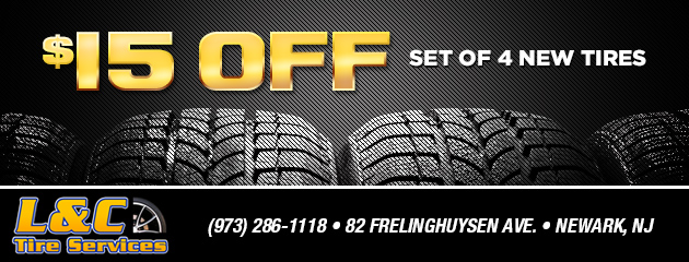$15 off a set of 4 new tires