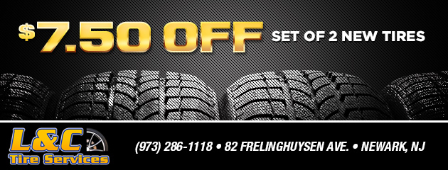 $7.50 off a set of 2 new tires