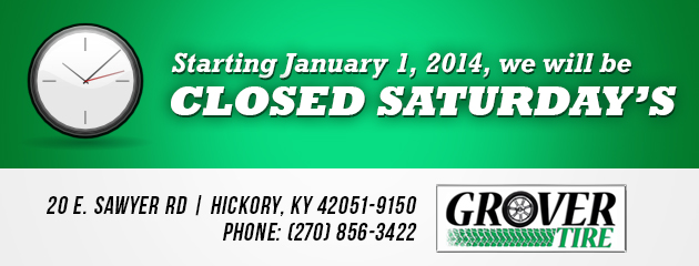 Closed Saturday