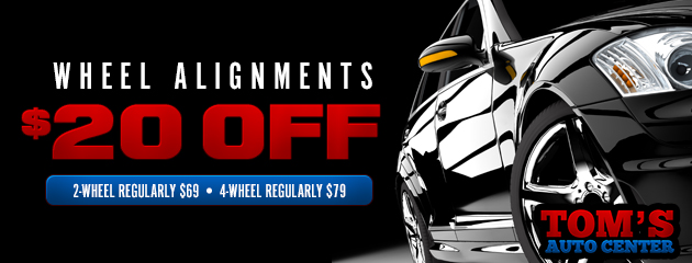 $20 Off Wheel Alignments