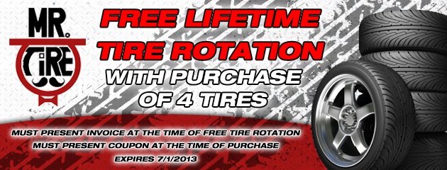 Free Lifetime Tire Rotation