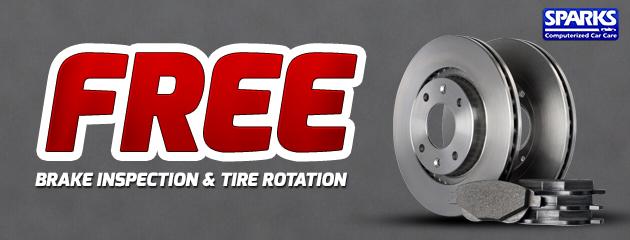 Free Brake Inspection & Tire Rotation