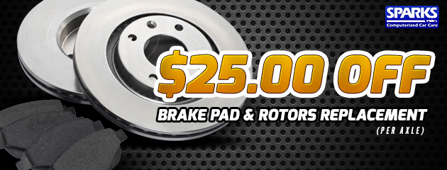 $25 Off Brake Pad & Rotor Replacement