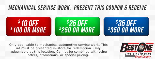 Mechanical Service Work Coupon