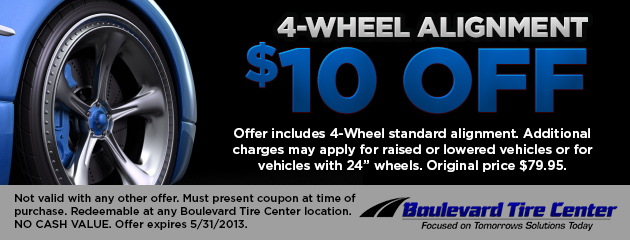 $10 Off 4-Alignment