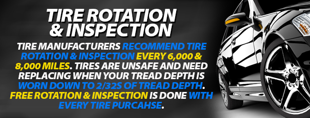Tire rotation & inspection
