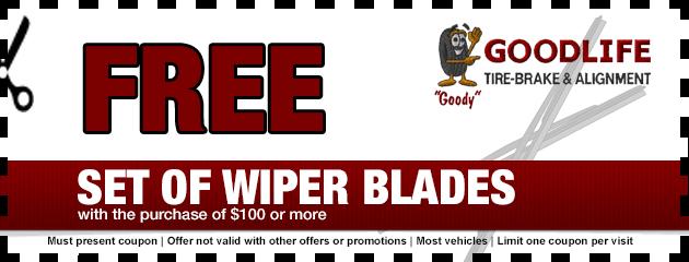 Free Set of Wiper Blades