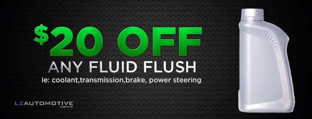 $20 off any fluid flush