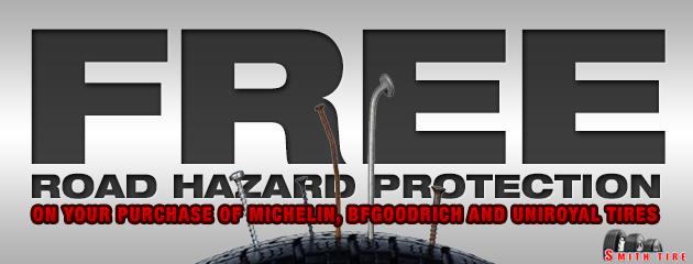 Free road hazard protection