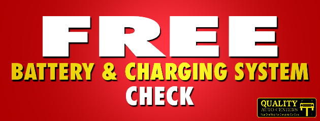 Free Battery and Charging system check