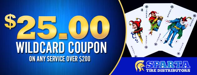 $25 Wildcard Coupon