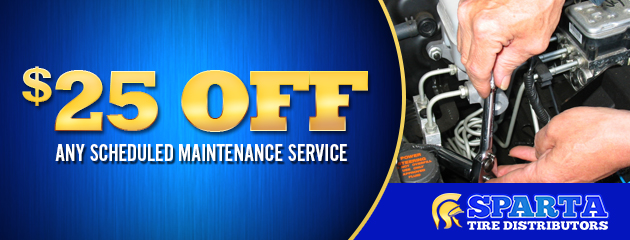 $25 off any scheduled maintenance service
