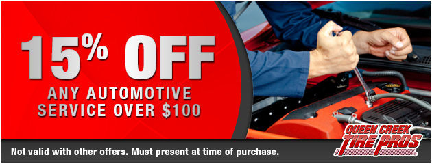 15% OFF any automotive service over $100