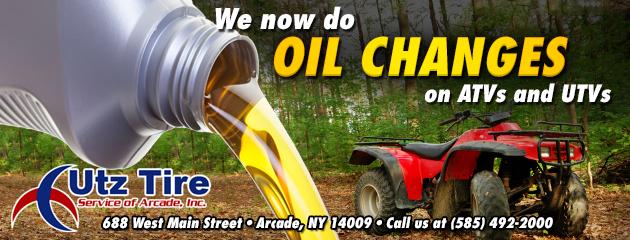 ATV and UTV Oil Changes