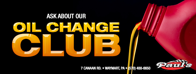 Ask about our oil change club!