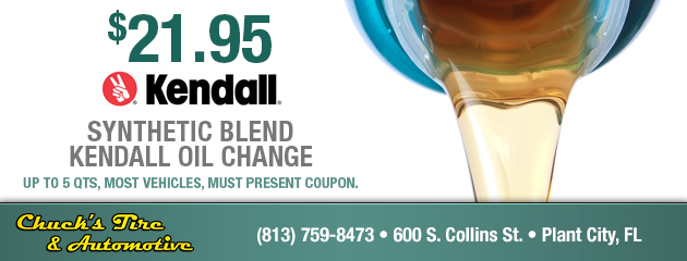 $21.95 Synthetic Blend Kendall Oil Change